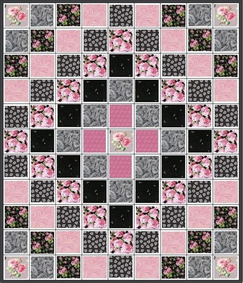 Trip Around The World Baby Quilt Pattern by Evening In Trip Around The World Quilt Kit Black