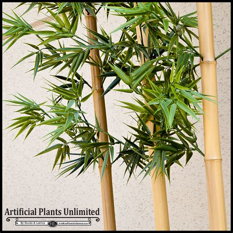 Bamboo L by Modern Fiberglass Planter And Bamboo Artificial Plants