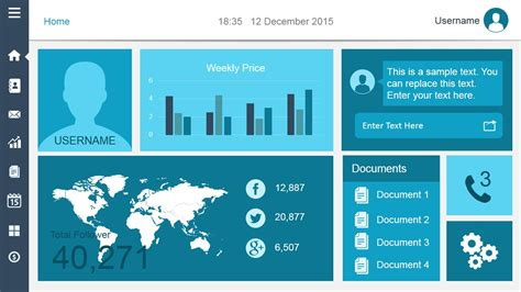 smart dashboard powerpoint template slidemodel