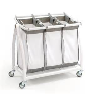 White Desk With File Cabinet Premium 3 Bag Heavy Duty Tilt Laundry Hamper Sorter Cart
