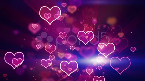 Hearts And Stars Kitchen Collection Glowing Neon Hearts Seamless Loop Background Stock