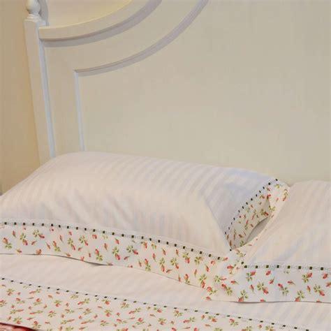 lenzuola da lenzuola matrimoniali di cotone con e nastri tina
