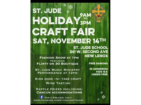 holiday craft shows in illinois st jude craft fair and fashion show mokena il patch