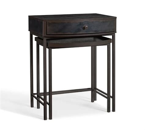 Nesting Tables Pottery Barn by Woodrow Metal Nesting Bedside Tables Set Of 2 Pottery Barn