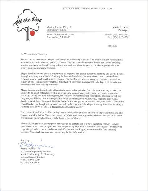 printable letter recommendation teacher