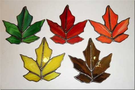 leaf pattern for stained glass colorfull fall stained glass leaves falling leaves