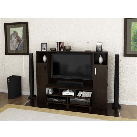 entertainment center with tv mount object moved