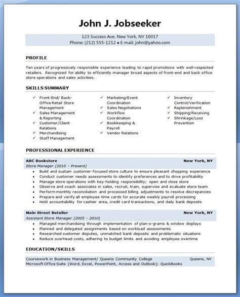 store manager cv template 17 best images about resume tips ideas on