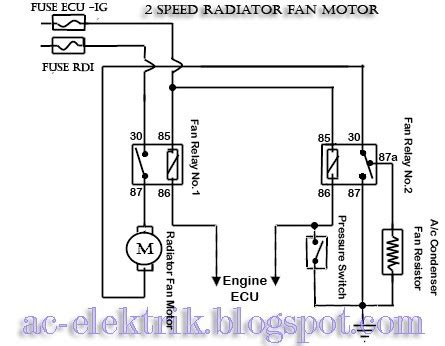 Kipas Radiator fan relay wiring fan free engine image for user manual