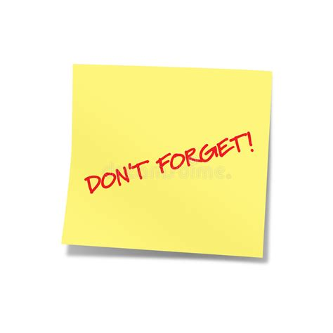 Dont Forget The Detox by Don T Forget Yellow Note 2 Stock Image Image Of Dont