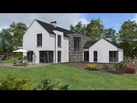 house design magazines ireland irish house plans type mod049 youtube