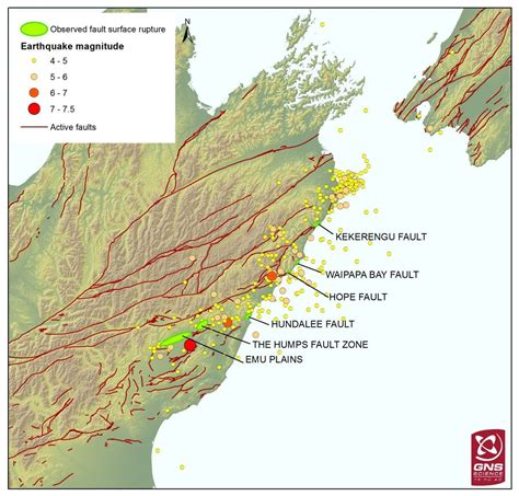 earthquake zones nz this stunning map shows that six faults at least six