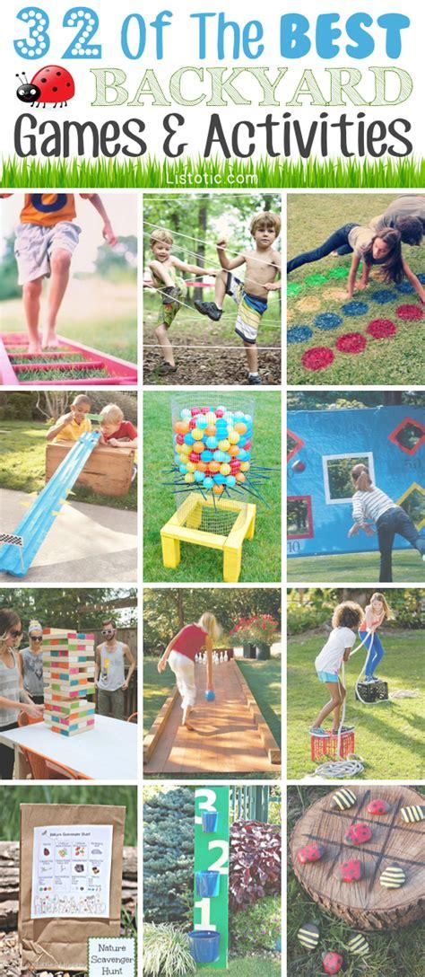 games to play in backyard 32 fun diy backyard games to play for kids adults
