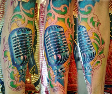 old fashioned tattoos fashioned microphone tattoos