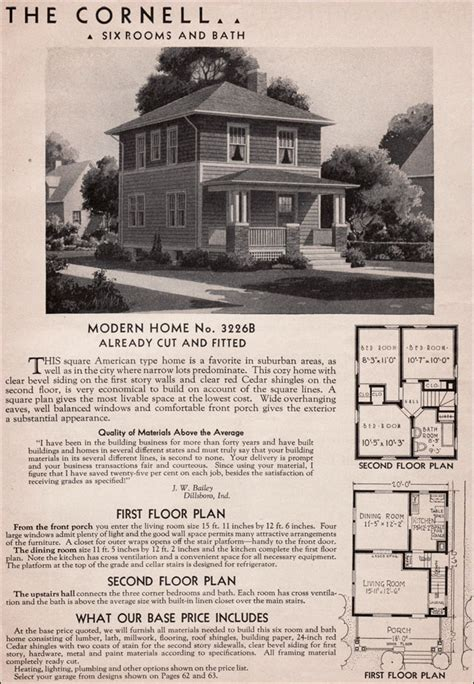 sears kit homes 1936 cornell american foursquare house
