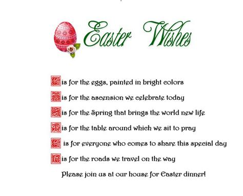 easter invitation template easter free suggested wording by geographics