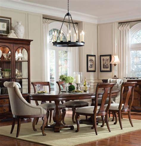 home gallery furniture for formal tables 7 pc margaux oval pedestal table dining room