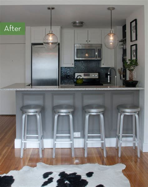 small kitchen makeovers before and after before and after a tiny kitchen gets a drastic makeover