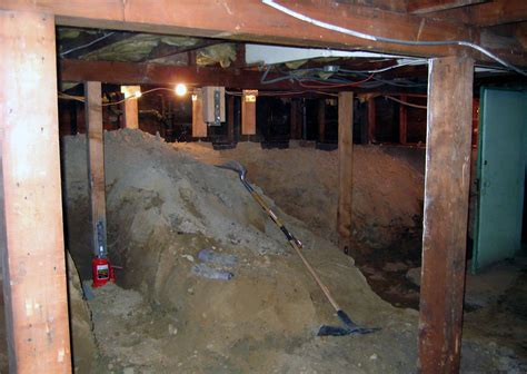 crawl space basement how to turn a crawl space into a basement chezerbey