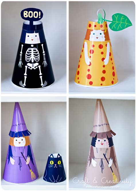 Paper Doll Crafts - paper doll munchkins and