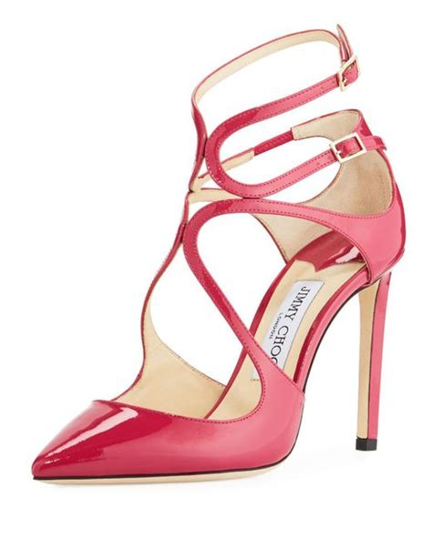 Get Your Groove On With Jimmy Choo Patent Shoes by Jimmy Choo Lancer Patent 100mm In Pink Lyst