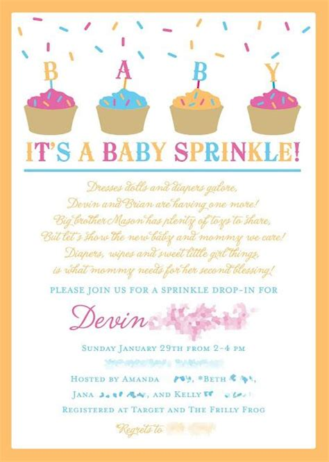 Baby Shower For A Second Baby by 25 Best Ideas About Baby Sprinkle Shower On