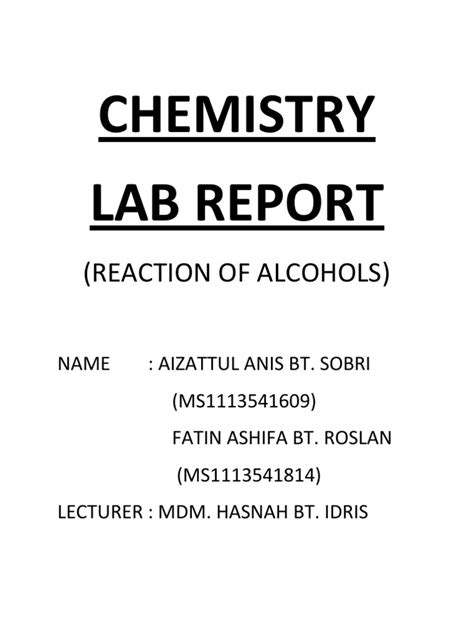 How To Write Conclusion For Chemistry Lab Report