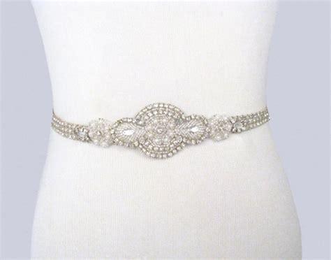 bridal sash rhinestone wedding belt pearl dress