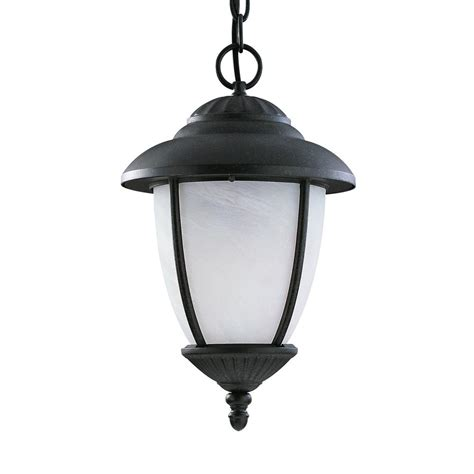 Hanging Led Lights Outdoor Sea Gull Lighting Yorktown Black 1 Light Outdoor Hanging Pendant With Led Bulb 60048pen3 12