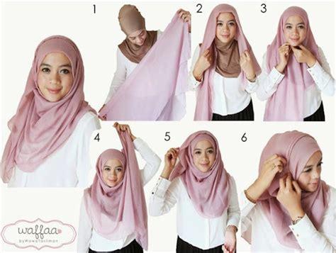 tutorial jilbab segi empat lapis 2 contoh tutorial hijab segi empat kreasi terbaru 2017 2018