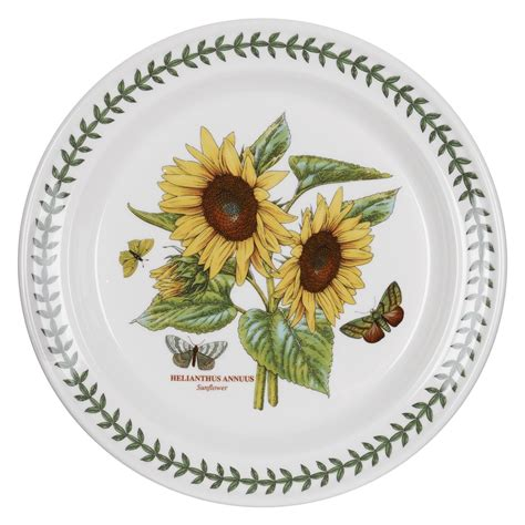 Botanic Gardens Portmeirion Portmeirion Botanic Garden 10 Inch Plate Sunflower Single Portmeirion Uk