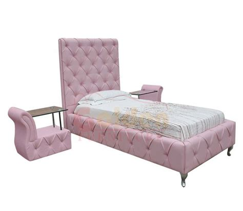 High Headbord Princess Bed With Crystal Pink Bed Frame Pink Bed Frame