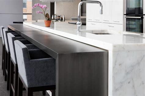 modern countertop blackened steel kitchen console modern kitchen