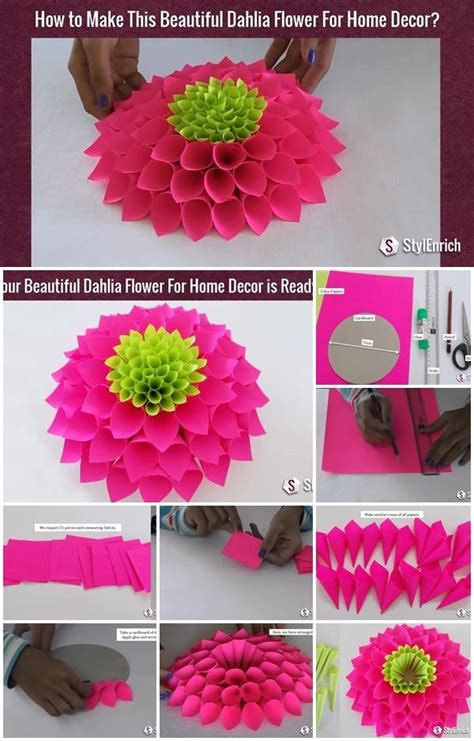 modular paper dahlia flower tutorial usefuldiycom