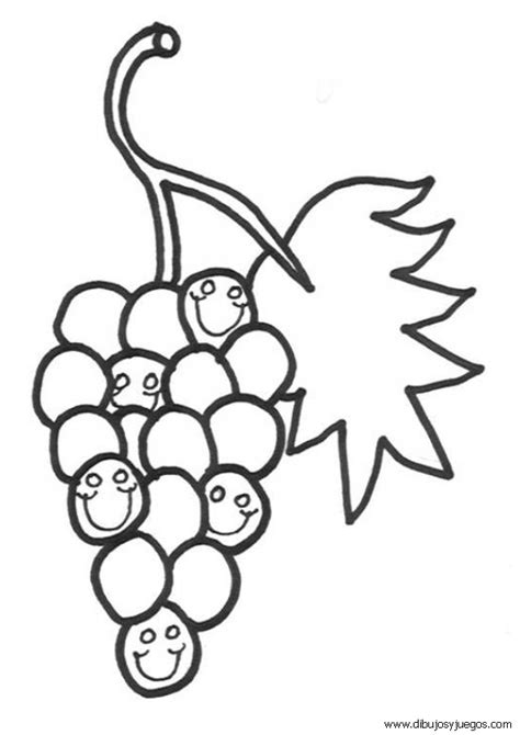 imagenes uvas para pintar dibujos de uvas 004 dibujos y juegos para pintar y colorear