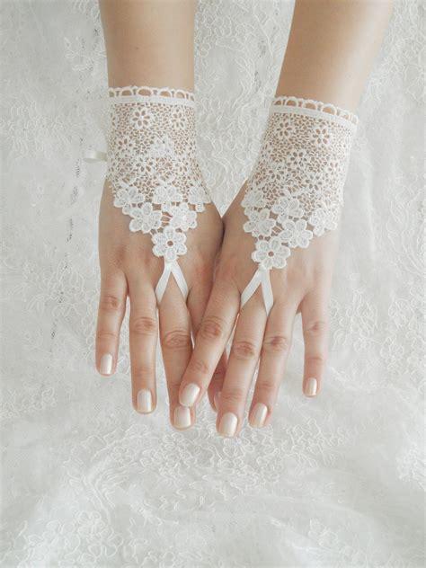 wedding gloves ivory gloves fingerless gloves