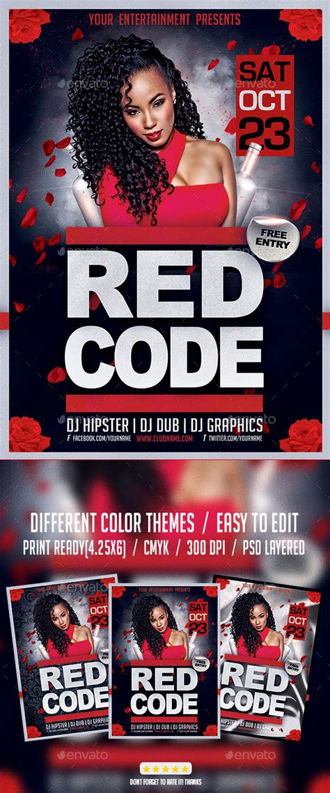 flyer template red red code night party flyer psd template by giga template