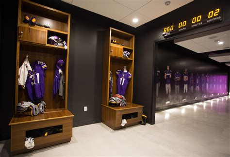 vikings locker room vikings unveil stadium preview center for fans and media this week stadium minnesota
