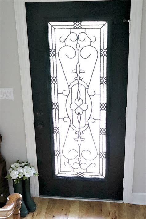 brightening  entryway  spring   diy glass door