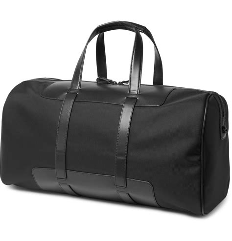 Bag Mont Blanc 7519 montblanc nightflight 55 leather trimmed shell cabin bag in black for lyst