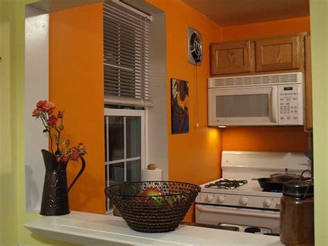 orange and green walls