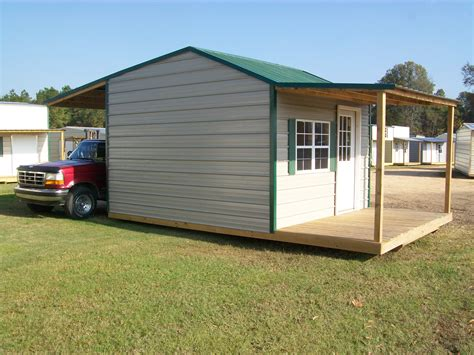 Canopy Sheds by Shed With Front Porch And Back Canopy