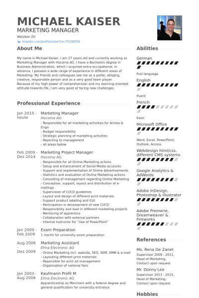 resume format for marketing executive pdf marketing manager resume sles visualcv resume sles database
