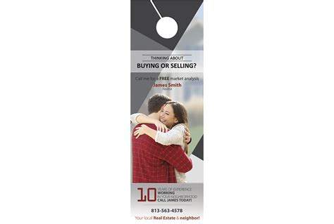 Rip Business Card Templates by Real Estate Door Hanger Rip Cards Template 14 Door
