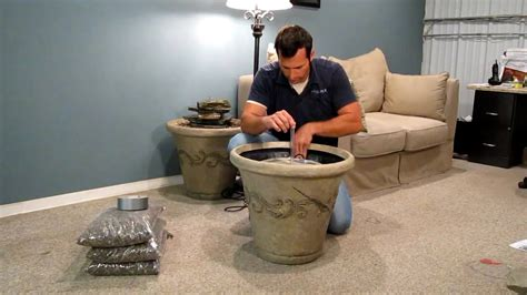 installing  standard aqua rock fountain kit
