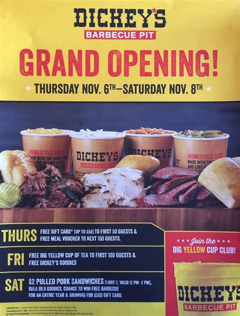 Dickies Bbq Gift Card Balance - riverside plaza dickey s barbecue pit begins three day grand opening celebration