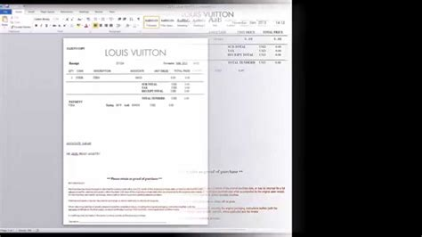 louis vuitton receipt template chanel gucci saks barneys louis vuitton nike hermes