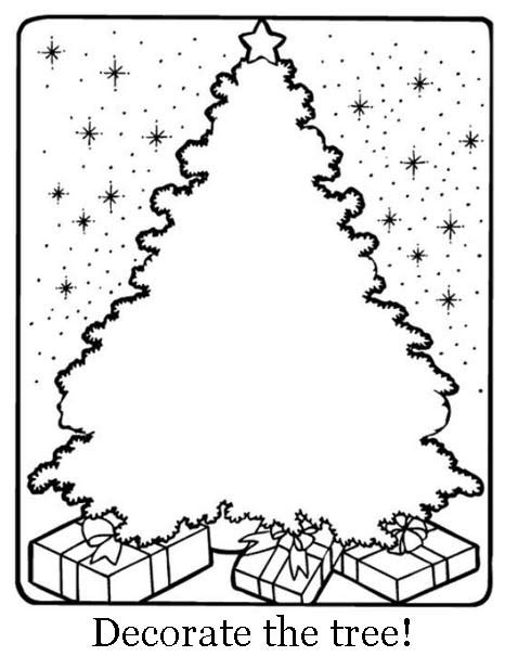 christmas tree activity book printable xmas coloring pages