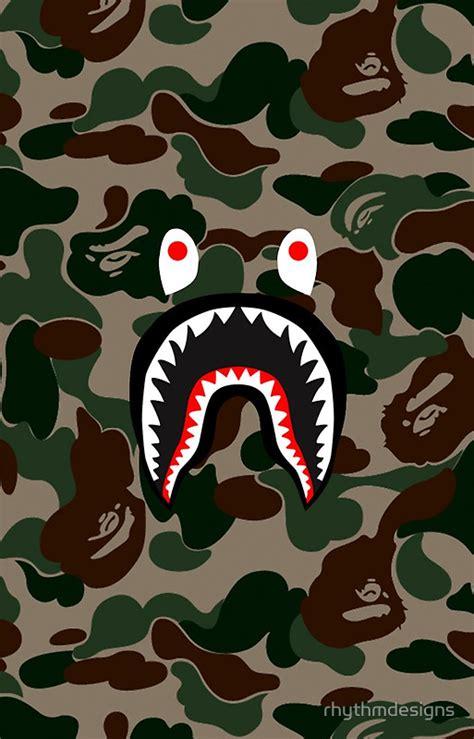 Iphone X Supreme Bape Shark Camo Pattern Cyan Hardcase bape camo shark logo wallpaper bape shark and camo