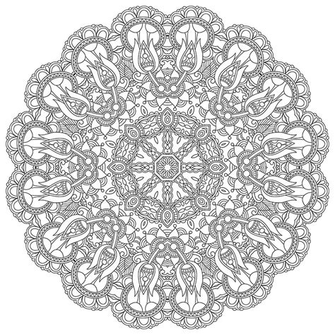 mandala coloring pages stress relief high resolution mandala coloring image for stress relief